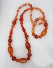 "Set Kalung+Gelang Batu ""KBLC011″ orange"